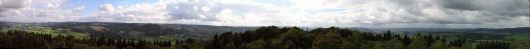 Panorama vom Wilzenberg-Turm. Zum Verbrößern auf das Bild -k l i c k e n-