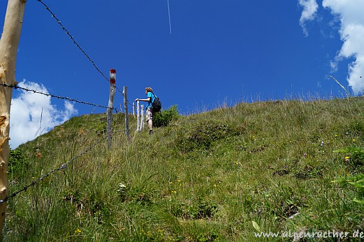 Steiler Aufstieg