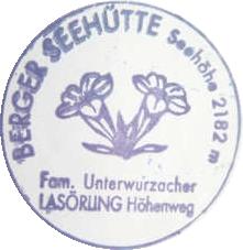 Hüttenstempel, Bergerseehütte