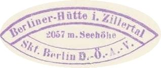 Hüttenstempel, Berliner Hütte
