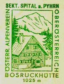 Bosruckhütte Hüttenstempel