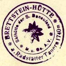 Brettsteinhütte, Hüttenstempel