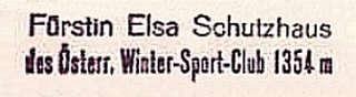 Elsa Schutzhaus