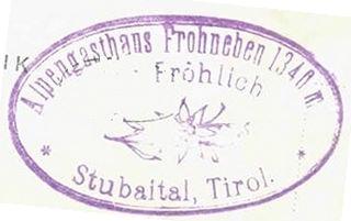Frohneben Gasthaus, Hüttenstempel