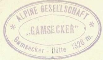 Gamsecker Hütte, Hüttenstempel