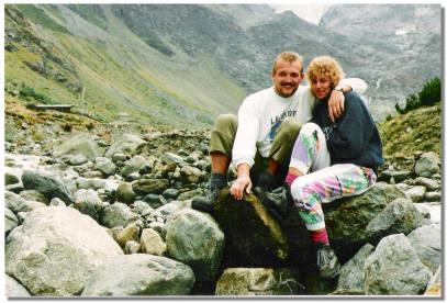 Udo und Andrea vor dem Gletscherstüble