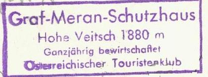 Graf-Meran-Haus, Hüttenstempel