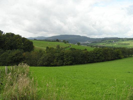 Oberhalb vom Kloster Grafschaft mit Blick in Richtung Schmallenberg.
