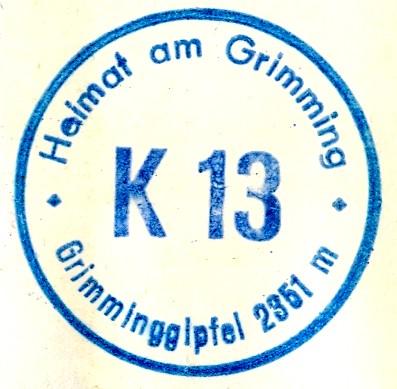 Grimming - Gipfel Hüttenstempel