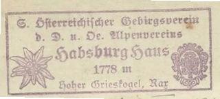Habsburghaus; Hüttenstempel