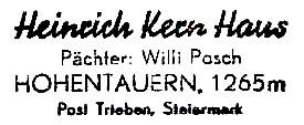 Heinrich-Kern-Haus - Rottenmanner-/Wölzer Tauern