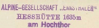 Hesshütte, Hüttenstempel