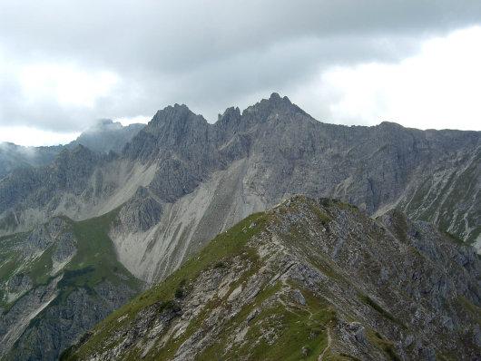 Blick von der Kanzelwand zur Hochgehrenspitze
