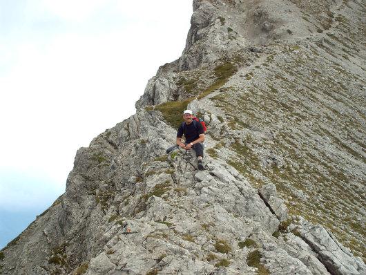 Udo Räther auf dem Grat der Hochgehrenspitze