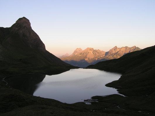 Sonnenaufgang am Rappensee.