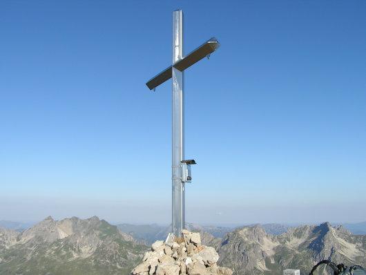 Gipfelkreuz am Hochrappenkopf.