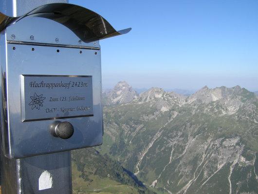 Am Gipfel vom Hochrappenkopf.