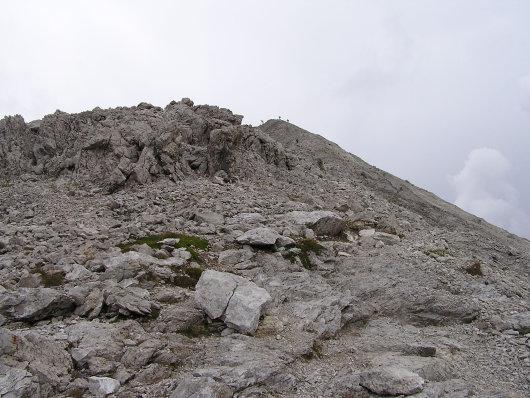 Die letzten Meter zum Gipfel.