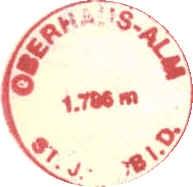 Hüttenstempel Oberhaus Alm