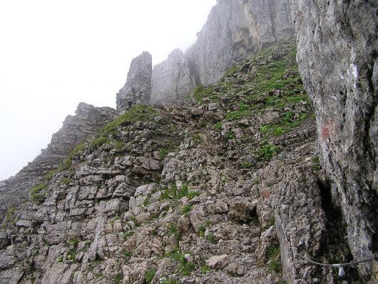 Hier ging es langsam an den Fels der Ifenmauer heran.