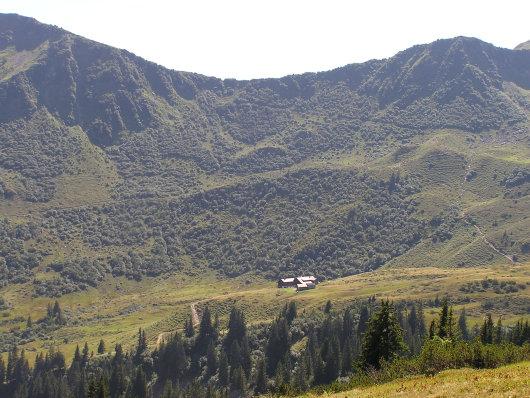 Blick zur Schwarzwasserhütte.