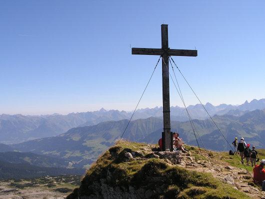 Am Gipfel vom Hohen Ifen angekommen.