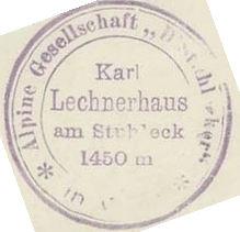 Karl-Lechner-Haus, Hüttenstempel