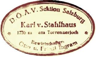Karl-von-Stahlhaus, Hüttenstempel
