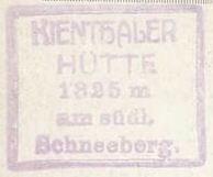 Kienthaler Hütte, Hüttenstempel