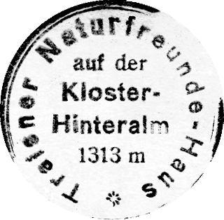 Traisner Hütte, Hüttenstempel