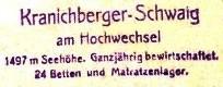 Kranichberger Schwaig, Hüttenstempel