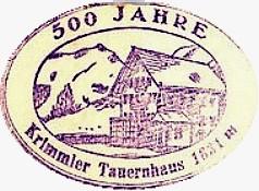 Krimmler Tauernhaus, Hüttenstempel