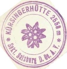 Kürsingerhütte, Hüttenstempel
