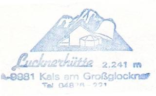 Stempel Lucknerhütte