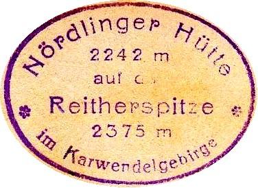 Nördlinger Hütte, Hüttenstempel