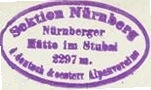 Nürnberger Hütte, Hüttenstempel