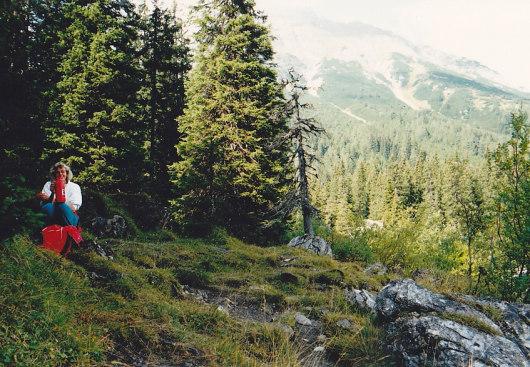 Am Ufer vom Obernberger See.