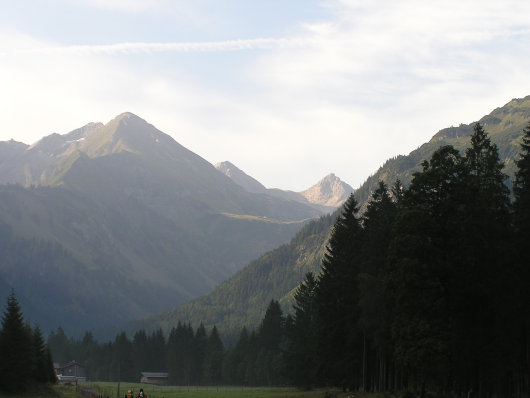 Blick von Birgsau zur Enzianhütte