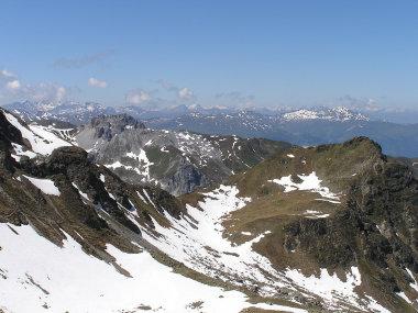 Blick zur Berninagruppe.