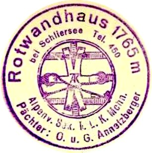 Rotwandhaus, Hüttenstempel