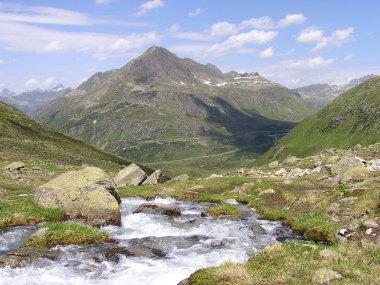 Blick zur Silvretta Hochalpenstrasse.