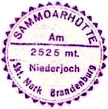 Sammoarhütte, Hüttenstempel