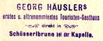 Schüsserlbrunn, Hüttenstempel