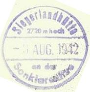 Siegerlandhütte, Hüttenstempel