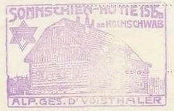 Sonnscheinhütte, Hüttenstempel