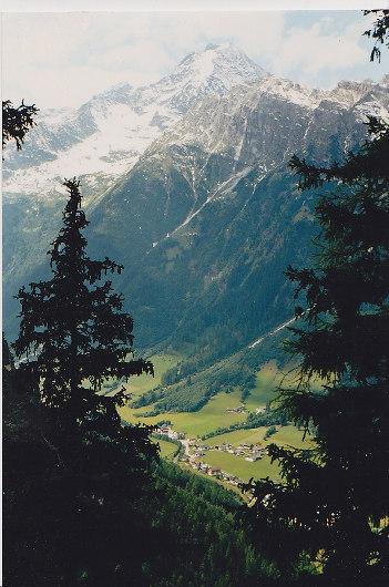 Blick auf Gschnitz.