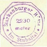 Starkenburger Hütte, Hüttenstempel