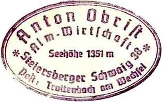 Steiersberger Schwaig, Hüttenstempel