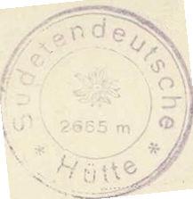 Sudetendeutsche Hütte, Hüttenstempel