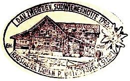 Südwienerhütte, Hüttenstempel